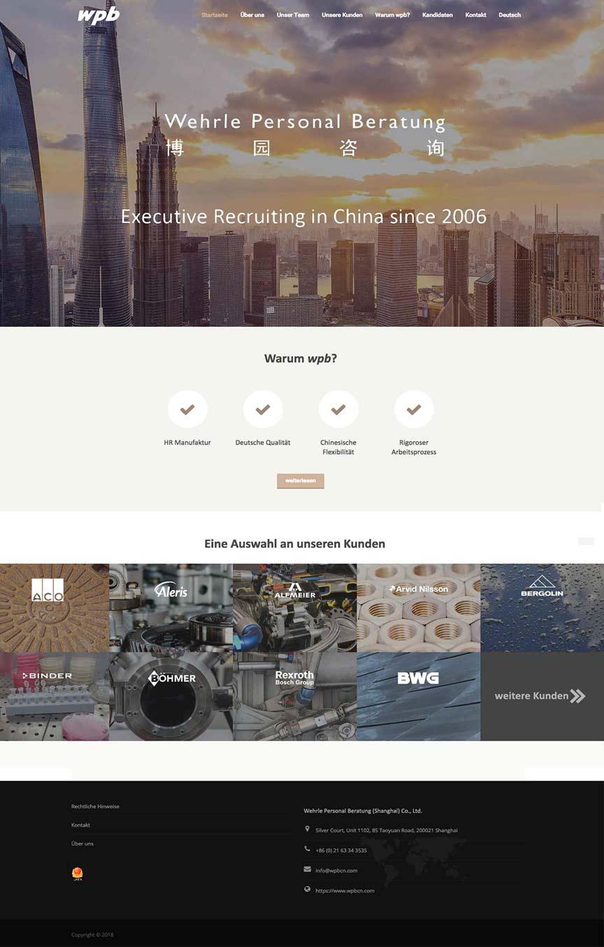 Business Webseiten China