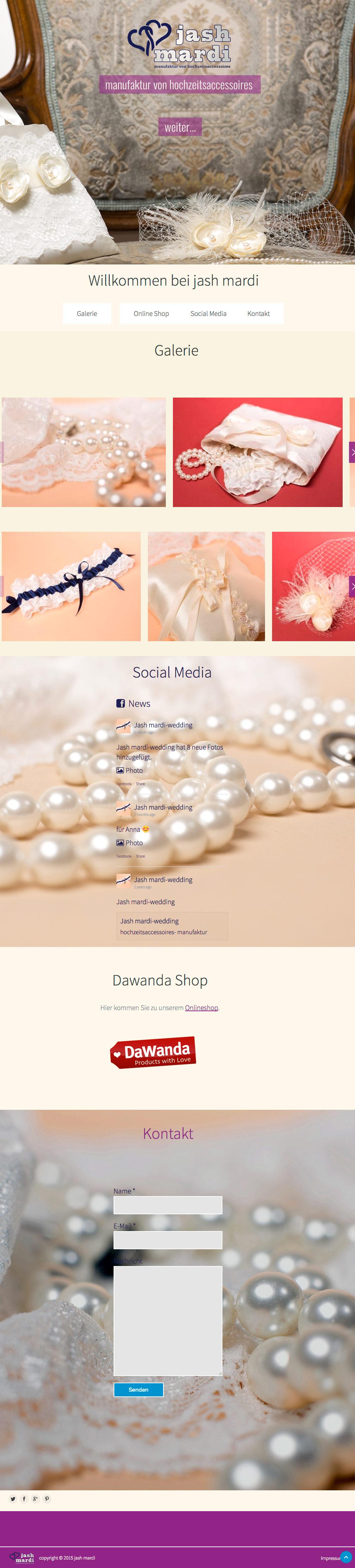 Wordpress Webseite